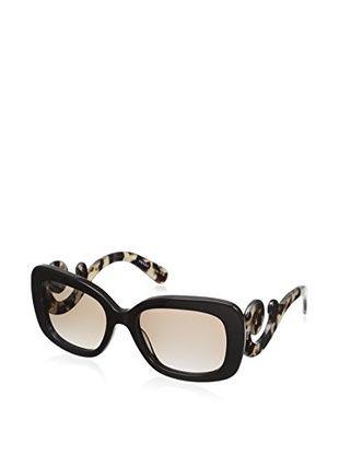 Prada Women's SPR27N Sunglasses (Brown)