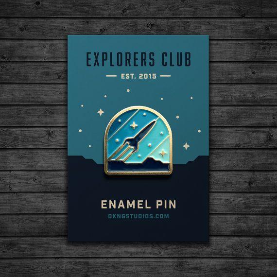 Explorers Club: Rocketeer Enamel Pin by dkngstudios on Etsy