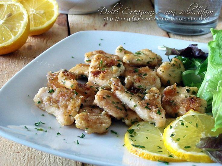 Bocconcini+di+pollo+al+limone,+in+padella