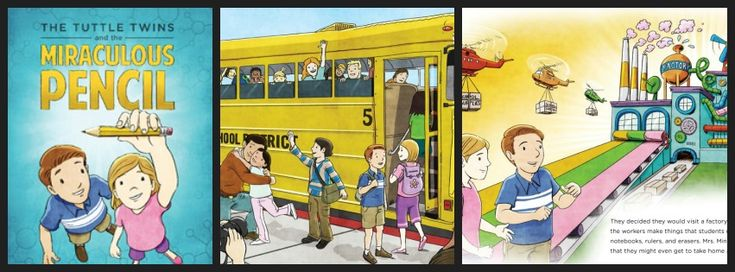 The book The Tuttle Twins and the Miraculous Pencil is a great book to teach children about the free market economy