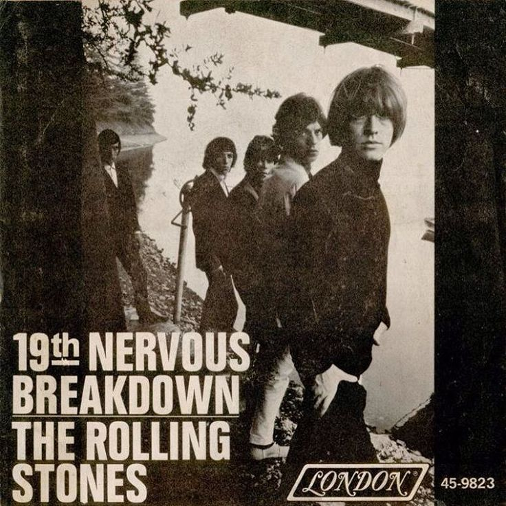 """19th Nervous Breakdown"" (b/w ""Sad Day"") (London) by the Rolling Stones was released in the United States on 12 February, 1966; it reached number two on the Billboard Hot 100. #45rpm #londonrecords #rhythmandblues #rockandroll #rollingstones #7inch #single #60s"