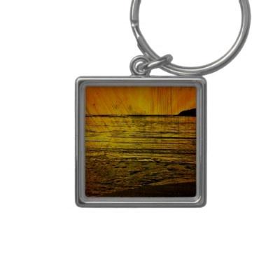 Sunset on the Beach Keychain