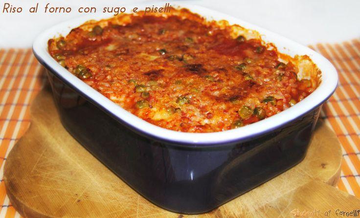 riso al forno con pomodoro e piselli ricetta primo