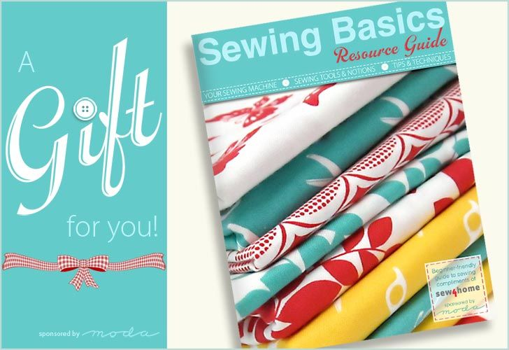 Sewing Basics Resource Guide sponsored by Moda Fabrics. This is a free download full of great info for beginning and intermediate sewers.