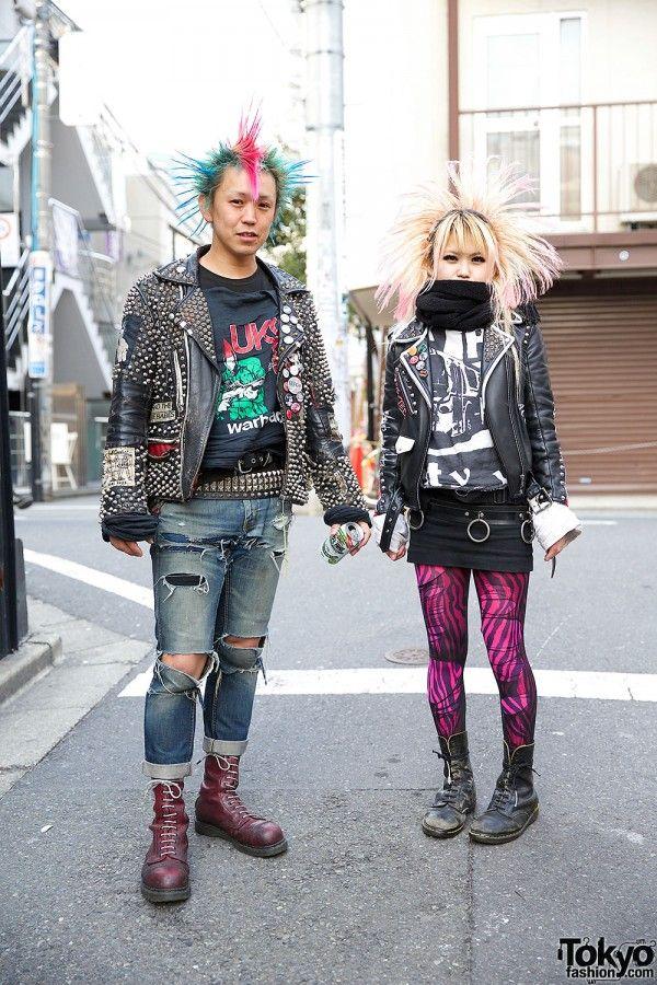 Harajuku Punk Rockers in Leather Jackets