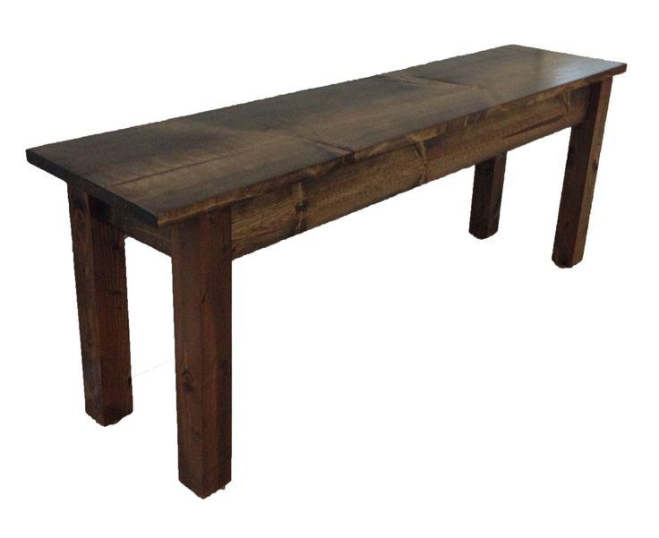 Bench / Rustic Bench / Farmhouse Bench by EzekielandStearns on Etsy https://www.etsy.com/listing/188699579/bench-rustic-bench-farmhouse-bench