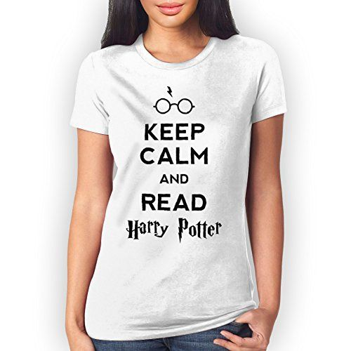 Keep Calm And Read Harry Potter Small Mujer T-Shirt #camiseta #friki #moda #regalo