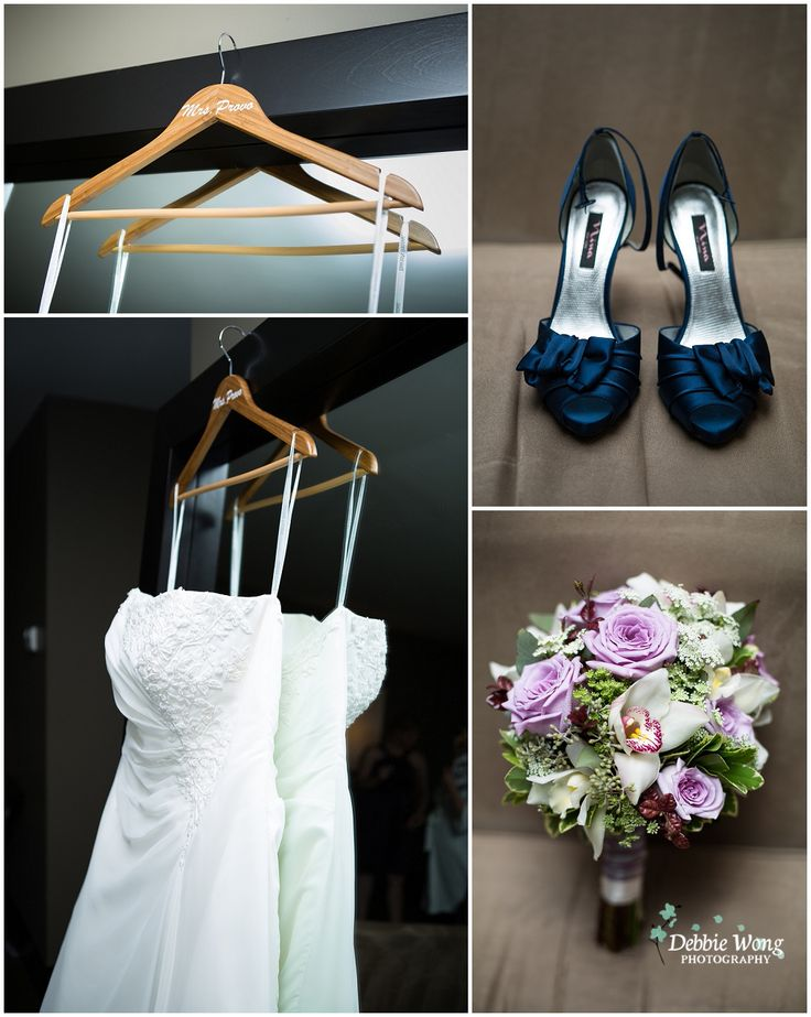 Cute hanger for the wedding dress. Debbie Wong Photography, Calgary wedding photography, www.debbiewongphotography.com