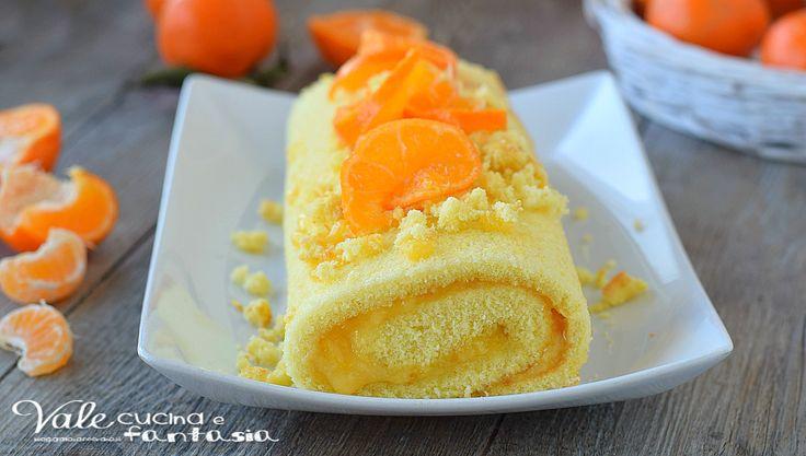 ROTOLO AL MANDARINO ricetta dolce facile, golosissima, buono, profumato, un dolce al mandarino goloso e adatto ad ogni occasione