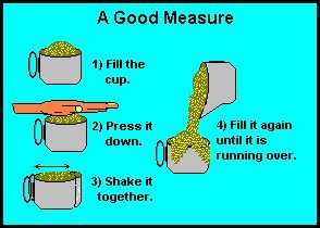 good measure pressed down shaken together and running over - Google Search