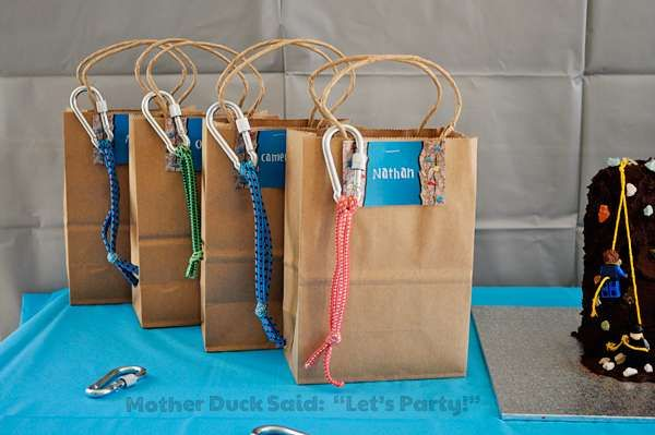 Rock Climbing Birthday Party Ideas | Photo 7 of 12 | Catch My Party