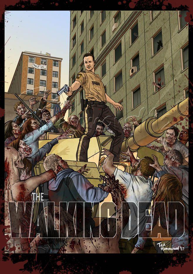 40 expressive walking dead fan artworks tv shows the walking
