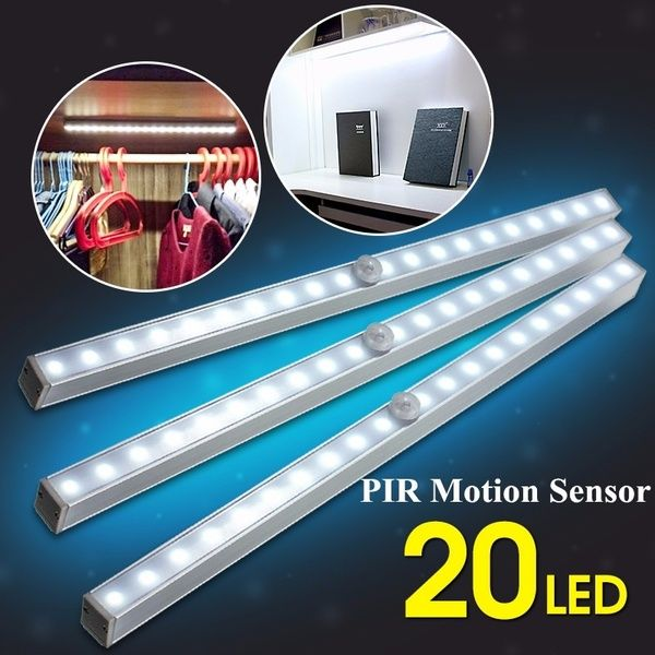 Portable Wireless Pir Motion Sensor Super Bright 20 Led Battery