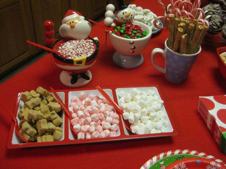 Hot chocolate bar- another idea for a party/get-together