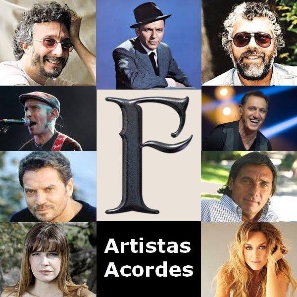 F (Lista de Artistas) canciones con letras y acordes de guitarra y piano