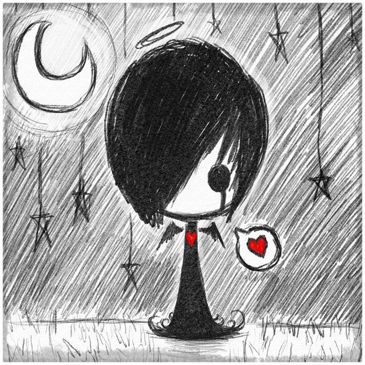 Emos Para Dibujar A Lapiz Imagui Dibujos Arte Emo Dibujos Oscuros