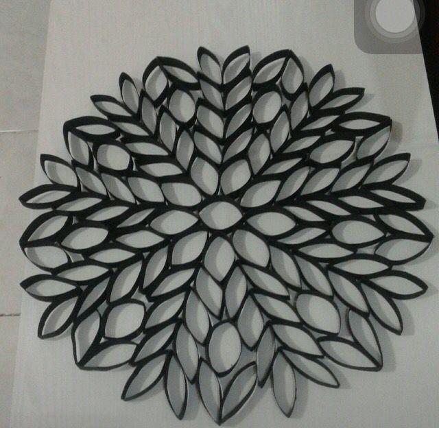 Mandala de rolo de papel higiênico
