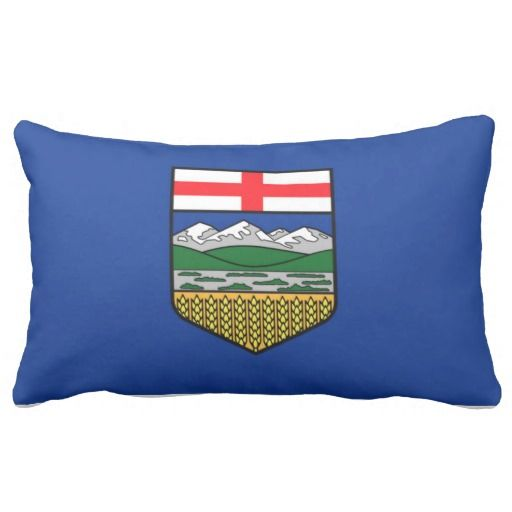 Provincial Flag Of #Alberta Throw Pillow