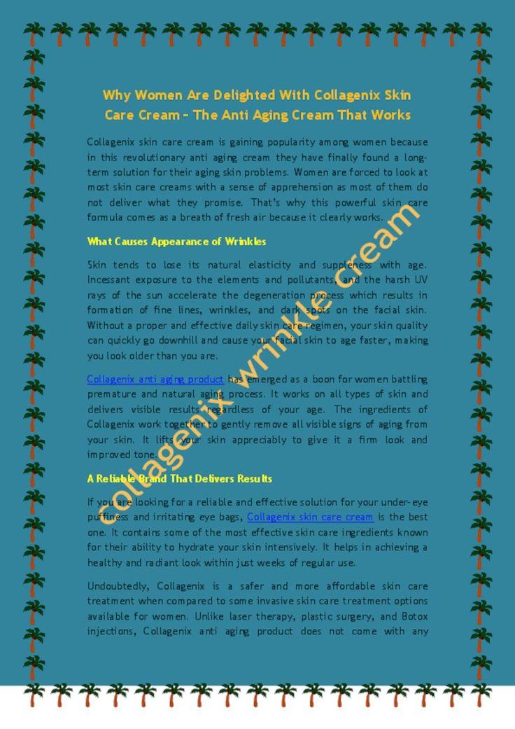 Women Are So Delighted With Collagenix Skin Care Cream