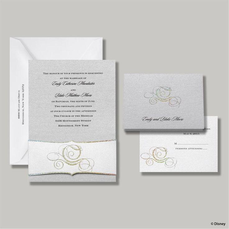 disney fairy tale carriage invitation fairytale wedding invitationsfairytale weddingscinderella - Cinderella Wedding Invitations