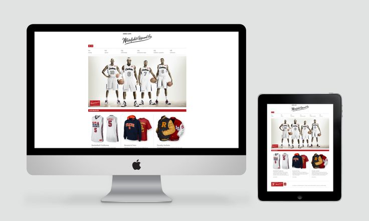 Web design for Whitefield apparel. View the full project at www.ruffhausdesign.co.nz