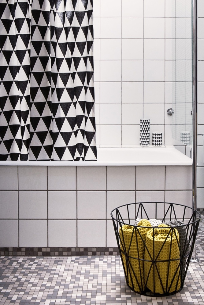 Wire Basket Medium Black Basket from ferm LIVING. #storage #basket #design