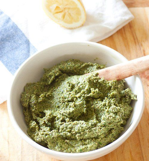 People can be protective about their pesto recipes and approaches. A little extra garlic or the special way they grind down the pesto? It's the magic touch. This is largely because pesto is so adaptable: you can create a signature pesto of your own using different nuts, greens, cheeses and spices. And that is exactly what we have here.