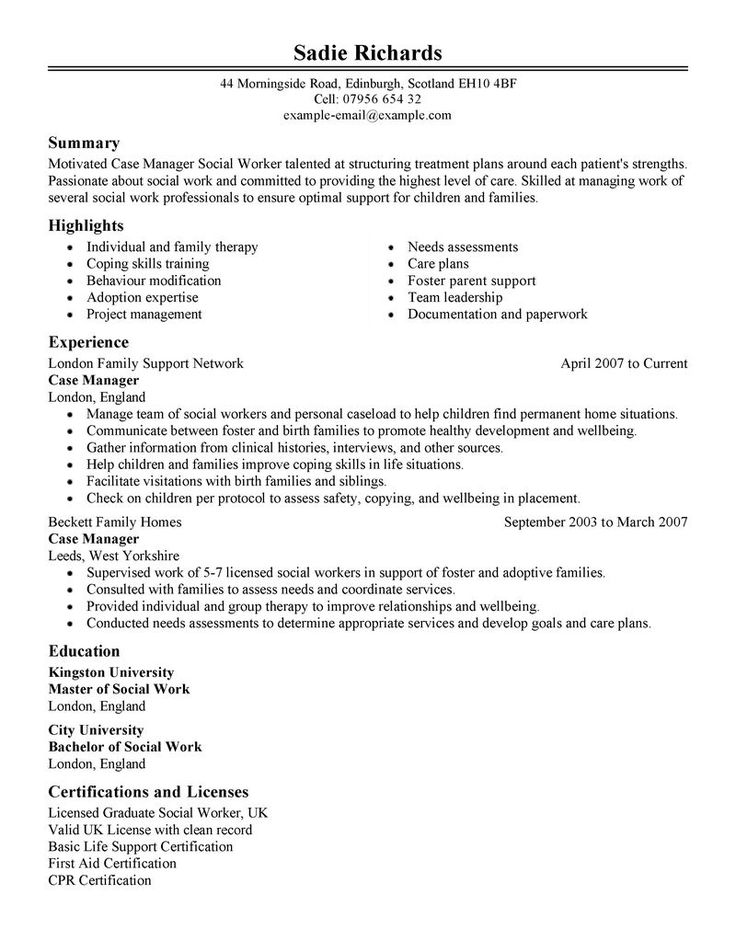 10 best resume images on Pinterest Resume examples, Cover letter - medical social worker resume