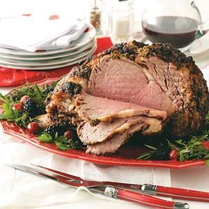 Prime rib always makes an impression on a holiday dinner table. But it's actually easy to prepare. This roast is wonderfully flavored with lots of fresh herbs. | Herb-Crusted Prime Rib Recipe from Taste of Home