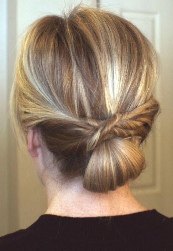 Twists To Bun Hair Pinterest Twist Bun Beauty Department And Updo
