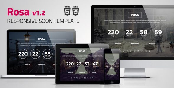 Responsive Coming Soon Template - Free Download HTML template, Free Templates…