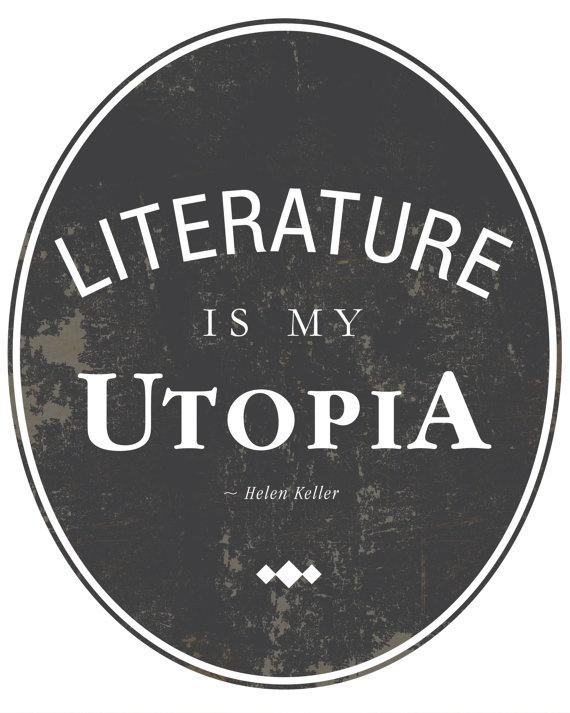 Literature Quote by Helen Keller 8x10 Art Print by AuraBowman