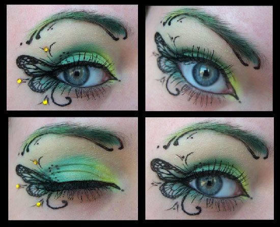 """""""Amazing page of incredible detailed eye makeup designs"""" - I found the link has diverse subjects, but love the fantasy feel of this design ~:^)>"""