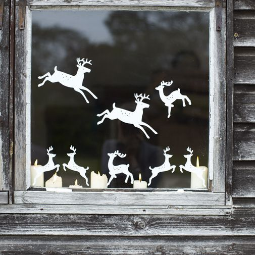 Reindeer window decals.