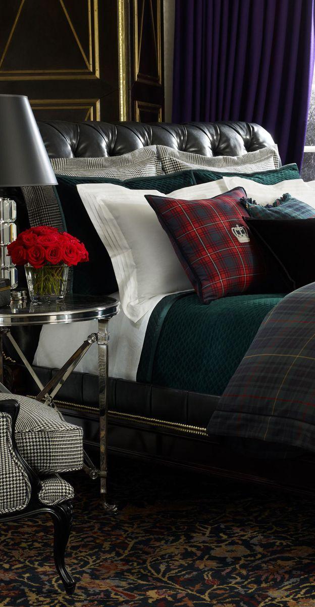 Ralph Lauren Devonshire Tartan Collection (very nice for a men's bedroom)