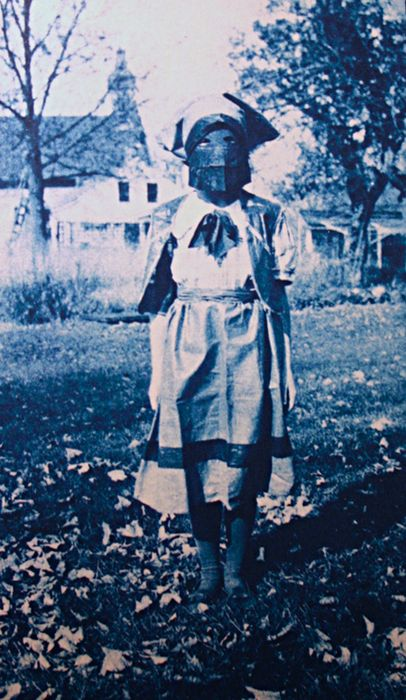 """Photographer unknown. 1910. Cyanotype. """"Shirley Holmes""""  Source: (2007), The Art of the American Snapshot 1888-1978, Princeton University Press."""