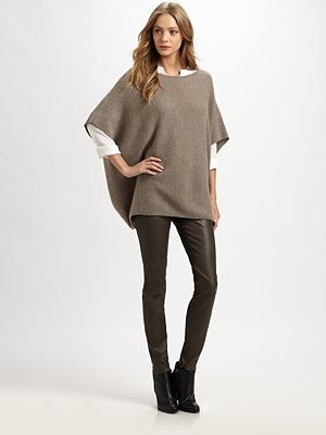 Vince - Leather Leggings: Cashmere Ponchos, 2Dayslook Leatherleg, Casual Style, Fashion Ideas, Colour Variations, Leatherleg Fashion, Leather Legs, Legs 2Dayslook, Personalized Style