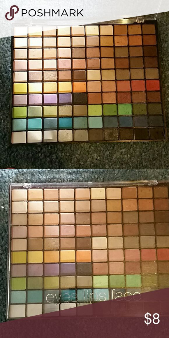 Elf eyeshadow palette Huge eyeshadow palette from elf.. hardly used. Only swatched a few of the colors. Disinfected Makeup Eyeshadow