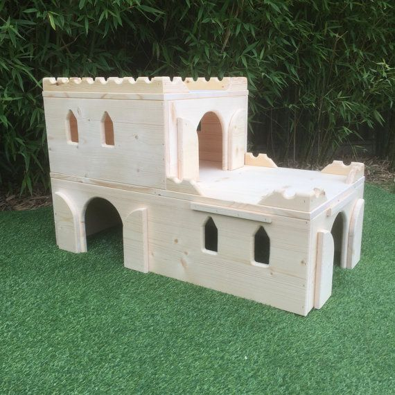 Bunny Manor Rabbit house/hide/shelter by ManorPetHousing on Etsy