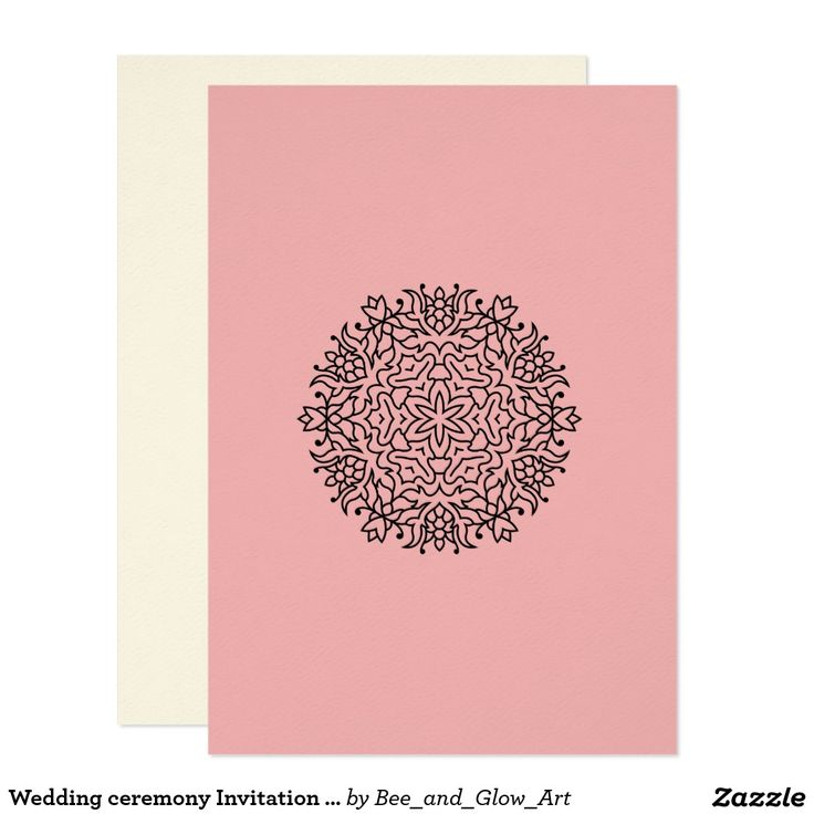 Wedding ceremony Invitation with Mandala