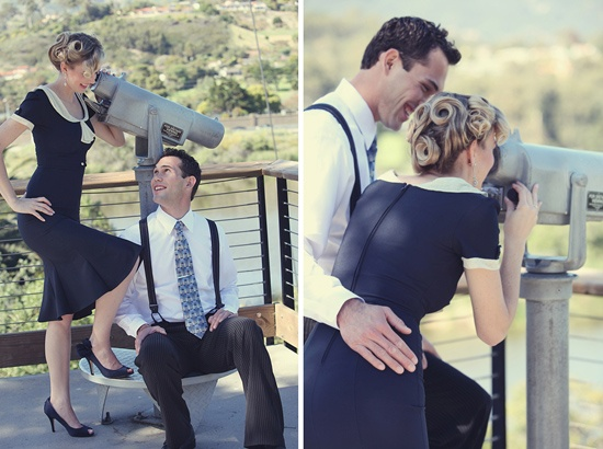 Gorgeous 40s style engagement session. LOVE this! :)