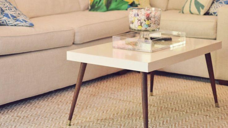 Table LACK transformée en table basse années 50 moderne