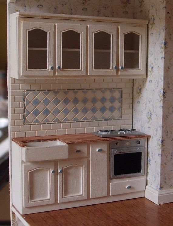 01:24 Maßstab Miniatur Puppenhaus Möbel Kit Chantilly Küche