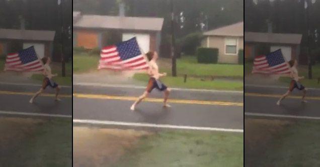 Shirtless Florida Man Headbangs To Slayer In Hurricane Matthew