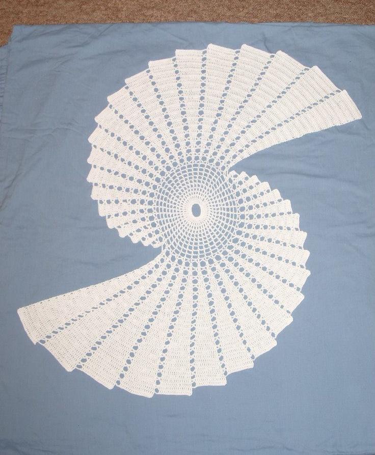 Fractal Large Crochet Doily Table Cloth Fractal