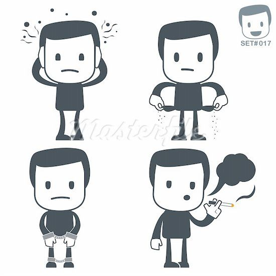 Character Design Simple : Simple character design with distinctive gestures mall