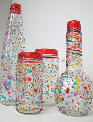 108 best images about glass jar crafts on pinterest for Empty bottle craft