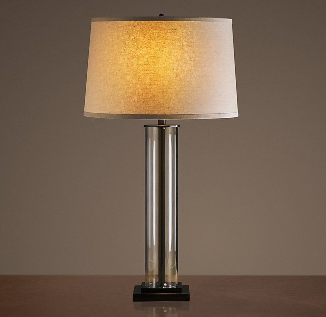 French Column Glass Table Lamp   Restoration Hardware. Nightstand ...