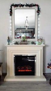 Une superbe décoration, chaleureuse et stylée avec la cheminée électrique Bernoise/ Cabourg de Cheminée Passion!