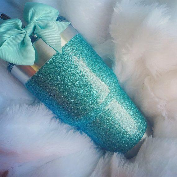 IN STOCK Glitter Yeti Rambler 30 Ounce in Tiffany by GlitterYeti